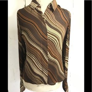 BCBG 100% Silk Fitted Blouse